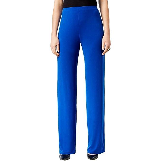 99f3d409616 Alfani Womens Pull On Wide Leg Wide Leg Pants Blue M at Amazon ...