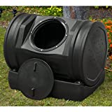 Compost Tea Tumbler Bin Backyard Garden- 52 Gallon 7 Cubic Feet Made SWith 100% Recycled Plastic For Strength Durability - Adjustable Air Vents- Makes Compost In Just 2 Weeks- Lighweight, Efficient