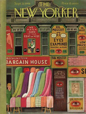 1946 New Yorker September 21 - Beckenstein and Moscot stores in - Moscot