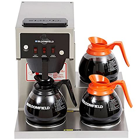 Bloomfield 8571-D3 Koffee King 3 Warmer Right Stepped Pourover Coffee Brewer, 120V; 1800W - Koffee King Coffee