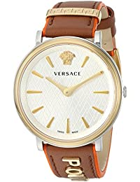 Women's 'THE MANIFESTO EDITION' Quartz Stainless Steel and Leather Casual Watch, Color:Brown (Model: VBP070017)