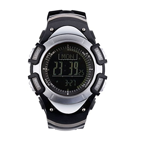 Sunroad fr8204b Digital impermeable Deportes al aire libre hombres reloj – Altímetro Brújula Cronómetro barómetro podómetro