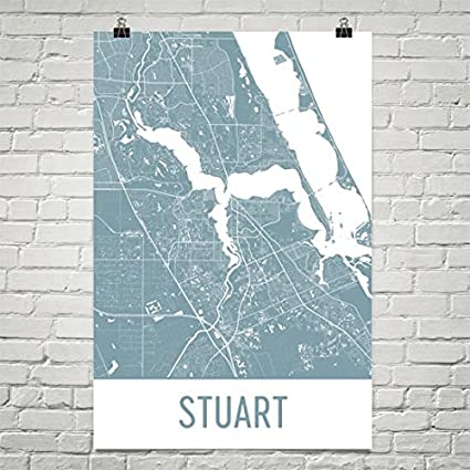 Map Of Stuart Florida.Amazon Com Stuart Map Stuart Art Stuart Print Stuart Fl Poster
