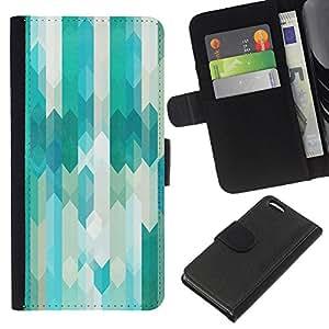 EJOY---La carpeta del tirón la caja de cuero de alta calidad de la PU Caso protector / Apple Iphone 5C / --Tel Azul Blanco con clase Vertical