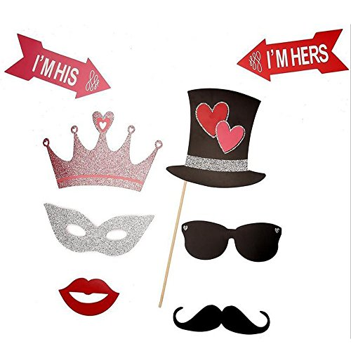 PalkSky 27pcs Valentine's Day Photo Booth Props Kit,Funny Party Camera Props Fully Assembled by PalkSky (Image #2)