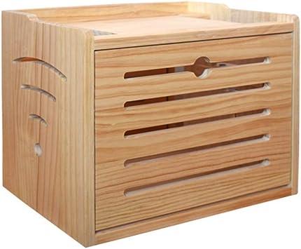 Set-top box de madera Estante de almacenamiento Router Caja de ...