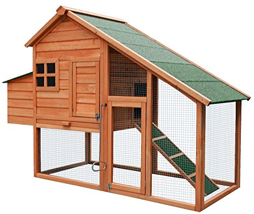 Merax Chicken Coop Wooden House Cage for Small Animals Hen Coop Nesting box (Chicken (Chicken House)