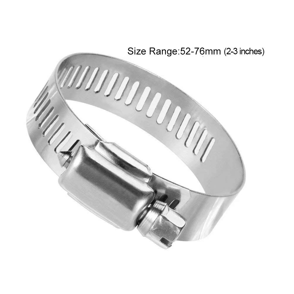 XHSP 20 Pcs Hose Clamp 0.5-0.9 inches Range Stainless Steel Worm Gear Hose Clamps Worm Water Pipe Clamp for for Plumbing Automotive and Mechanical Applications