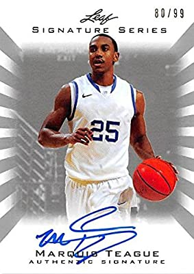 Marquis Teague autographed Basketball Card (Kentucky Wildcats) 2012 Leaf #BAMT1 LE 80/99