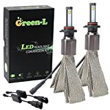 Green-L (Pack of 2) LED Headlight bulbs 9005 HB3 H10 4th Gen 90W 11700lm CREE XHP-50 6000k White Plug & Play Conversion Kit