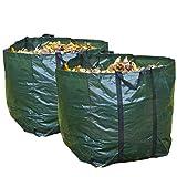 Speedwellstar 2 x Strong 98 Litre Garden Bag Waste Refuse Rubbish Grass Sack Waterproof Reusable Large