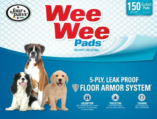 Miracle Absorb Pet Train (Four Paws Wee-Wee Puppy Housebreaking Pads, 150-Pack by Four Paws)