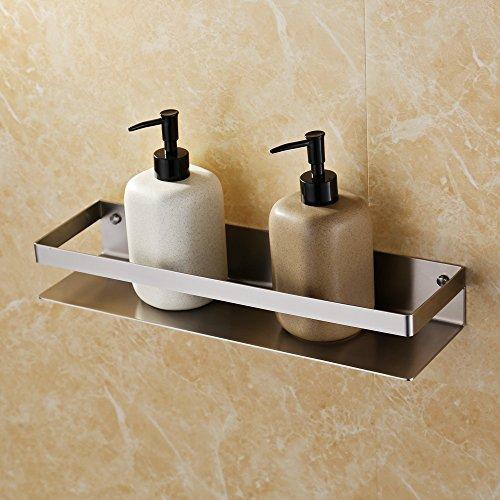 KES Bathroom Shelf Stainless Steel Bath Shower Shelf Basket Caddy RUSTPROOF Square Modern Style Wall Mounted Brushed Finish, BSC205S40A-2