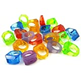 Wildgirl Parrot Toy DIY Cage Accessories Mixed Colors Plastic Ring Toys (about 100 PCS)