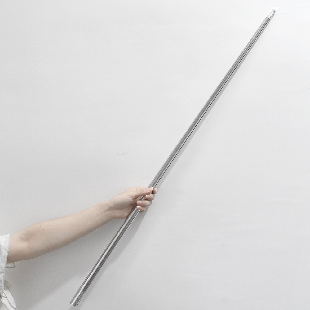 bigbao 43-1/4'' Silver Metal Appearing Cane Magic Wand For Professional Magician Stage Close-up Magic Trick Magic Accessories