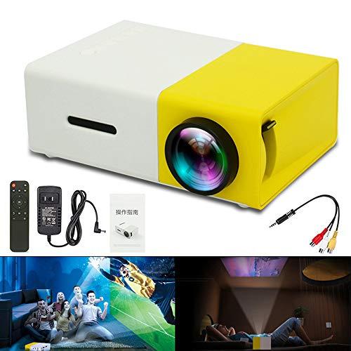 DJG Universal-60-Zoll-HD Beweglicher Mini-LED Pocket Projector Ohne Batterie Heimkino Kinder Ausbildung Beamer Projektor