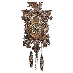 Quartz Cuckoo Clock 5-leaves, bird TU 351 Q