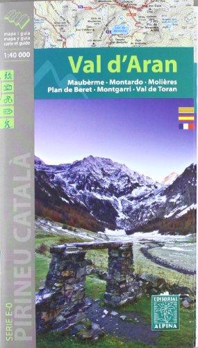 Descargar Libro Vall D'aran, Mapa Excursionista. Escala 1:40.000, Español, Català, Français. Alpina Editorial. Vv.aa.