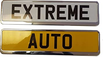 XtremeAuto Car Registration License Number Plate Surrounds Holder Frame Chrome Look includes Sticker & XtremeAuto Car Registration License Number Plate Surrounds Holder ...