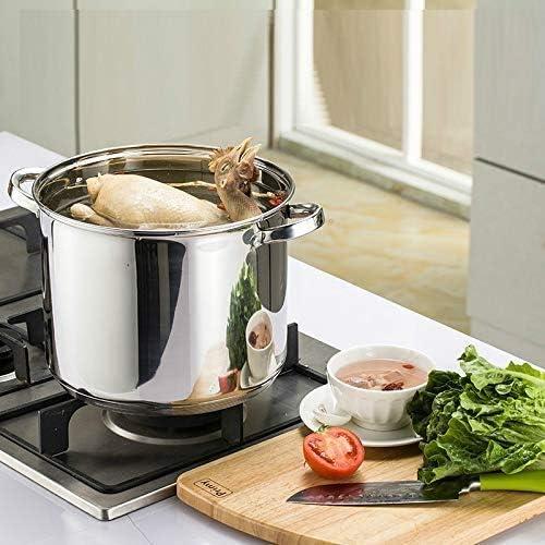 LINANNAN Pot 1pc Casserole Marmite en Acier Inoxydable # 304 Profonde marmite à Soupe épaissie Cuisinière à Induction Cuisinière Commercial 8l