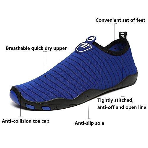 Unisex Shoes Pool Water Aerobics Swim Womens Beach Socks Blue Sports Quick Dry Mens Aqua for MCICI Diving Yoga Shoes Snorkeling Shoes Barefoot Water Surf dZwx1qqE