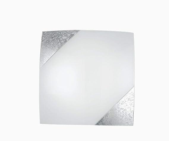 Lampada da soffitto decorativo in bianco argento vintage design 3 x