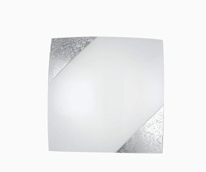 Plafoniere Vetro Vintage : Bella forma plafoniera bianco argento vintage 2x e27 fino 60 watt