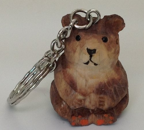 new-carved-wood-detailed-mini-brown-teddy-bear-2-key-chain