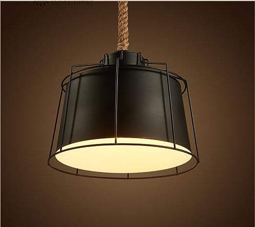 El candelabro de cáñamo, Loft estilo americano retro Bar Restaurant Lounge ilumina las zonas rurales