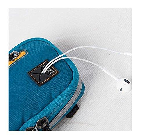 Kimberleystore braccio multifunzione sport outdoor borse borsetta il cellulare borsello da braccio con tracolla–nero