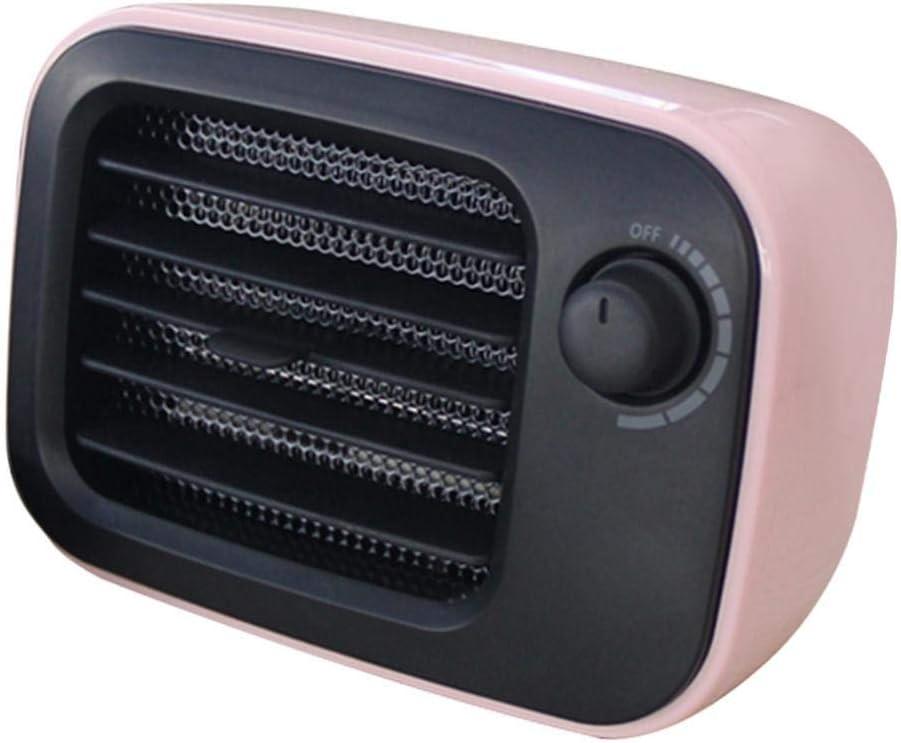 PETSOLA Calentador De Ventilador De Escritorio Estilo Vintage Mini Calentador De Manos Oficina Práctico Estufa Enchufe de EE. UU. - Rosado