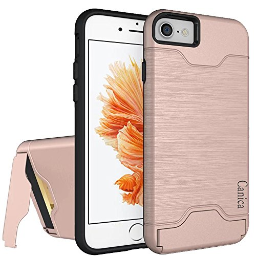iPhone 7 Cases,iPhone 7 Case,Case for iPhone 7,iPhone 7 Back Case,Canica iPhone 7 Hybrid Wallet Case Protective Hard Cover Skin Card Holder for iPhone 7