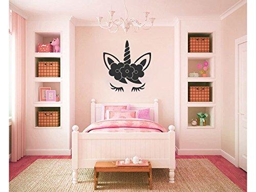 Amazon.com: Unicorn Head Sleeping Silhouette Vinyl Wall Words Decal ...