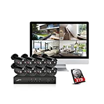 ANRAN Plug And Play 8CH CCTV System&48V POE NVR Kit Onvif P2P 1080P 2.0MP HD POE Waterproof Email Alarm Security Camera System