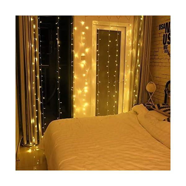 Uping Catena Luminosa Stringa di Luci 300 LED, per Festa Giardino Natale Halloween Matrimonio(Bianca Calda) 7 spesavip