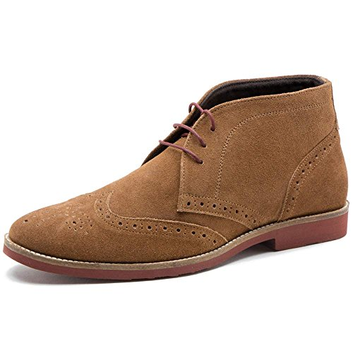 Tape Uomo Suede Foxhill Tan Polacchine Red dwp1xnd