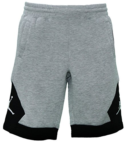 NIKE Jordan Bys Varsity FLC Short Sweat Pants - Grey (X-Large) by NIKE