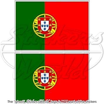 """Portugal Bandera de Portugal República Portuguesa 4 """"(100 mm) Bumper de vinilo"""