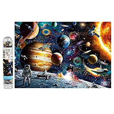 Puzzles for Adults 234 Pieces Wooden Jigsaw Puzzle Challenge and Fun - Castle in the Sky, Cosmic Space Planets ect.: Jewelry