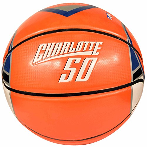 Logo Team Glass Under (Spalding NBA Charlotte Bobcats Emeka Okafor Team Colors and Logo Under Glass Basketball)