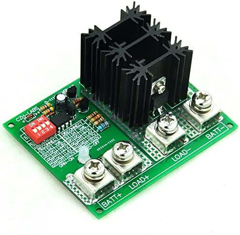 CZH-LABS Electronics-Salon Low Voltage Disconnect Module LVD, 12V 80A, Protect Prolong Battery Life.