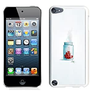 Fashionable Custom Designed iPod Touch 5 Phone Case With Hearts In Jar Love_White Phone Case