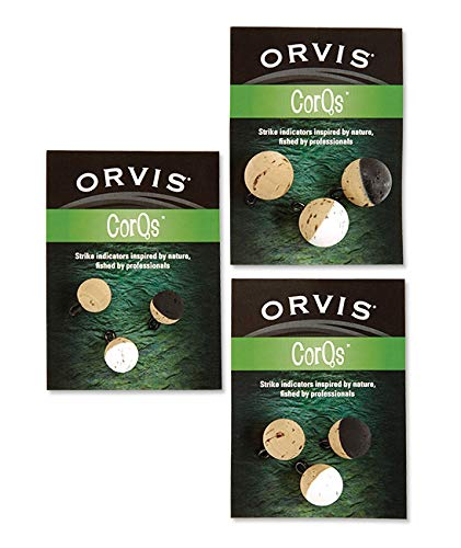 Orvis CORQS Strike Indicators (2 Colors & 3 Sizes) Packed 3 per Unit. (1/2