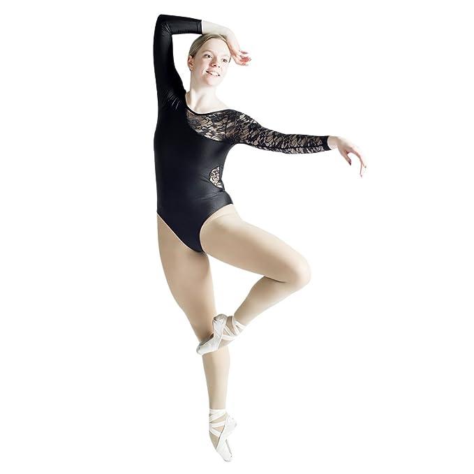 c93f56ad0a04 Amazon.com  HDW DANCE Ladies and Girls Ballet Dance Leotard Lace ...