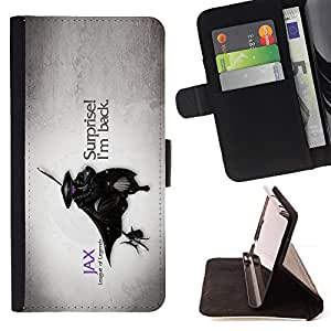 BullDog Case - FOR/LG Nexus 5 D820 D821 / - / cool funny league game costume mask surprise back /- Monedero de cuero de la PU Llevar cubierta de la caja con el ID Credit Card Slots Flip funda de cuer