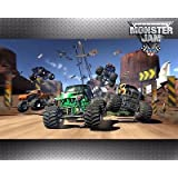 SDore Monster Jam Truck Edible 1/4 Sheet Image Frosting Cake Topper Birthday Party