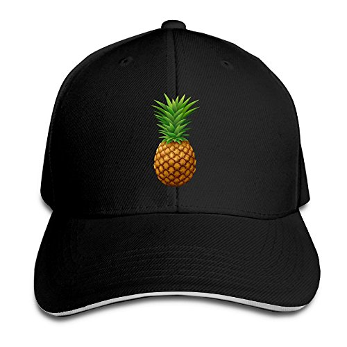 (Sakanpopineapple Cap Unisex Low Profile Cotton Hat Baseball Caps Black )