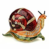 Snail Animal Treasured Trinkets Jewelry Box Tabletop Ornament Novelty Gift