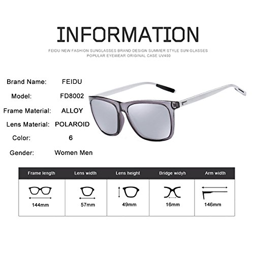 591d969cc7 Mens Sunglasses Man Polarized Sunglasses - FEIDU Polarized Sunglasses Men FD  9003 (silver