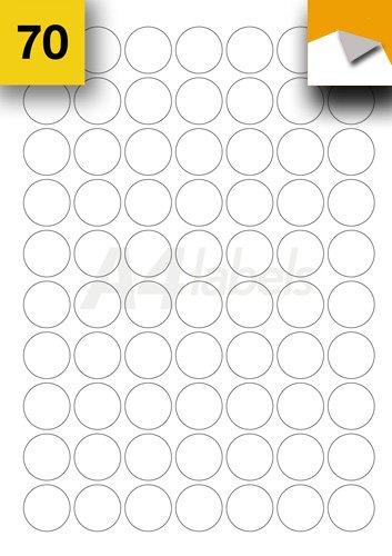 A4 Labels.com - Etiquetas despegables (redondas, 25 mm de diámetro ...